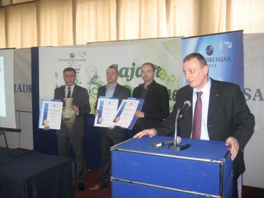 Industrija mesa Goranović - apsolutni šampion kvaliteta na 36. sajmu ishrane u Budvi treću godinu zaredom 17.03.2010. – 20.03.2010.