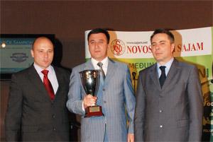 Industriji mesa Goranović svečano uručen veliki šampionski pehar za apsolutnog šampiona kvaliteta na 76. međunarodnom poljoprivrednom sajmu u Novom Sadu